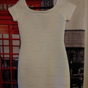 Joseph Ribkoff Milk White Stretch Dress Sz 10